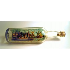 1058 - Ocean Liner in a Harbor in a Bottle