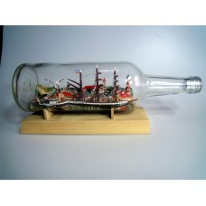 1106 - Ship and Tug Diorama in a Bottle