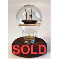427 - Schooner Ship in a Bottle - SOLD