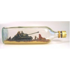 438 - Josef Stalin Mk II Tank in bottle