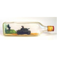 "439 - German Tank ""PzKpfw III"" in bottle"