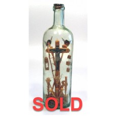 450 - Jesus with Angels Scene in bottle - SOLD