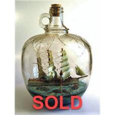 474 - Tvetfala Ship Diorama in a bottle - SOLD