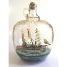 474 - Tvetfala Ship Diorama in a bottle