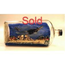 477-Gravenhurst POW Battleship in a Bottle - SOLD