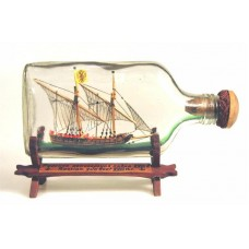 504 - 18th Century Russian Gunboat Ship in bottle