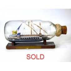 524 - Galley Anno 1480 Ship in a Bottle - SOLD