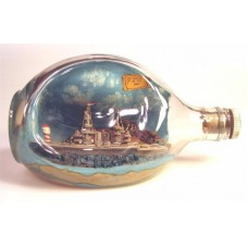 636 - POW Battleship Diorama in a Bottle