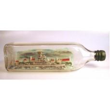 680 - HMS Hood Ship in a bottle