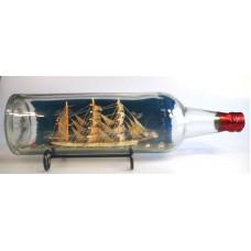 "693 - 3 Masted Bark ""lsle"" Ship in a bottle"