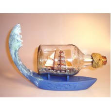 705 - Brigantine Ship in a bottle