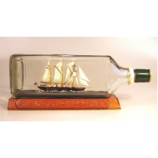 "763 - Schooner ""Winston Churchill"" Ship in a bottle"