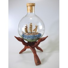 960 - Mayflower Carrack Ship in a Bottle