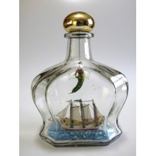 964 - Vic Cosby 3 Masted Schooner in a Bottle